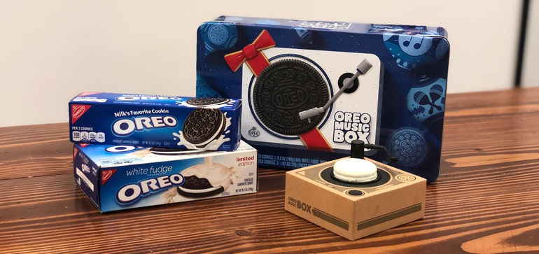 Oreo unwraps playable turntable that spins cookies, not vinyl