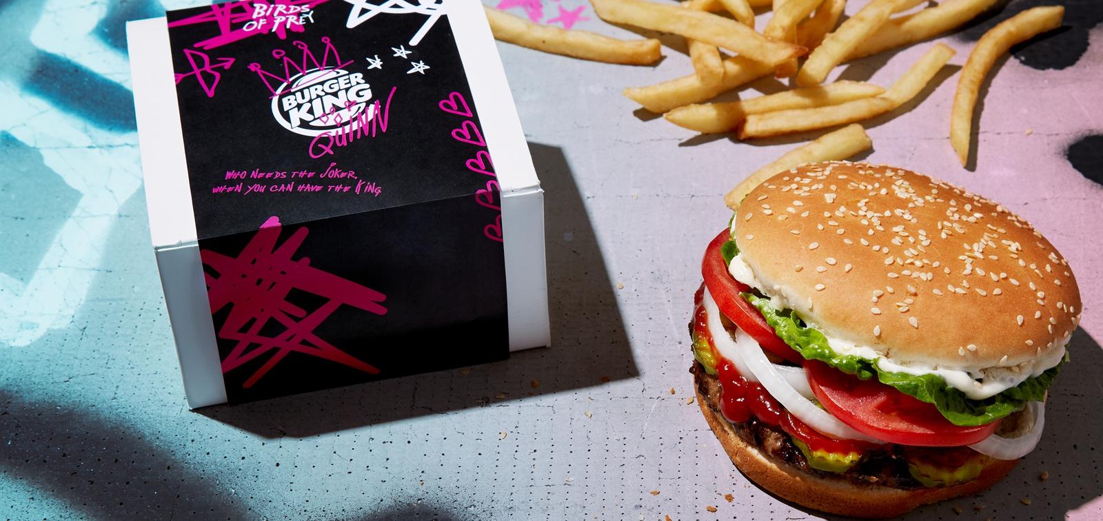 Burger King celebrates Harley Quinn's breakup in anti-Valentine's Day promotion