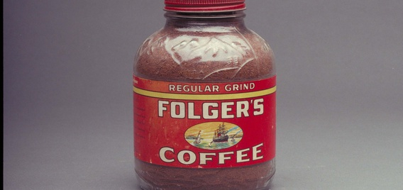 Historic Folgers coffee